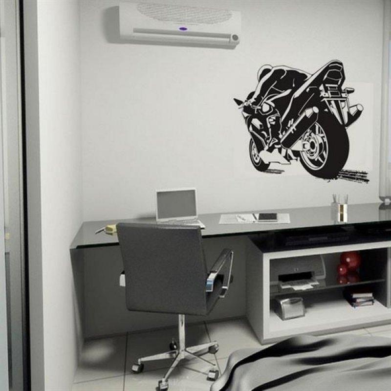 4d88b3305 Adesivo de Parede Esporte Motociclismo - P 50x66cm - MadeiraMadeira