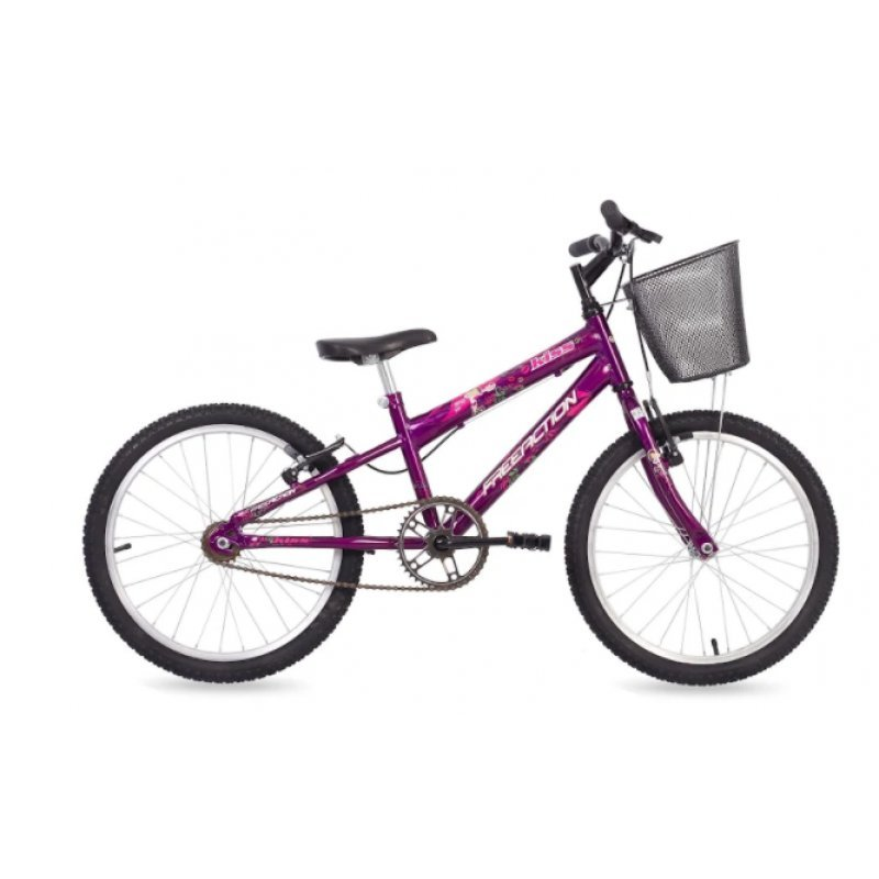 753c3d7dc Bicicleta Free Action Aro 20 c  cesta Kiss Violeta - 04-047.016