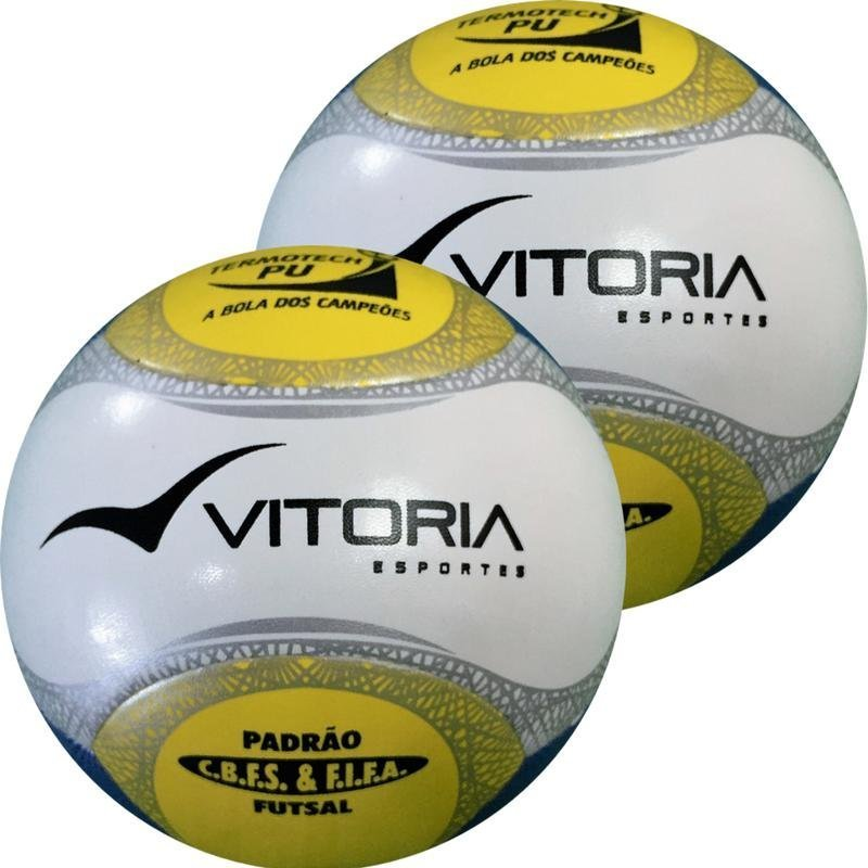 ef388661dd Bola Futsal Vitoria Oficial Termotec Pu Max 500 kit com 3 ...