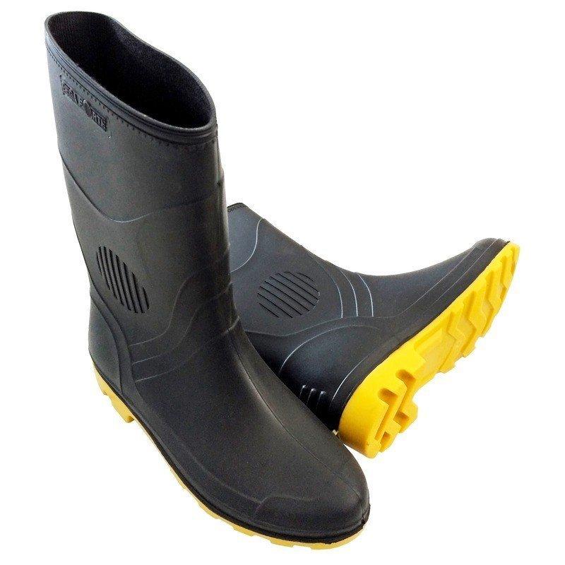 Bota PVC Preto Amarelo Cano Médio S Forro Pega Forte Grendene 45 a86a424513