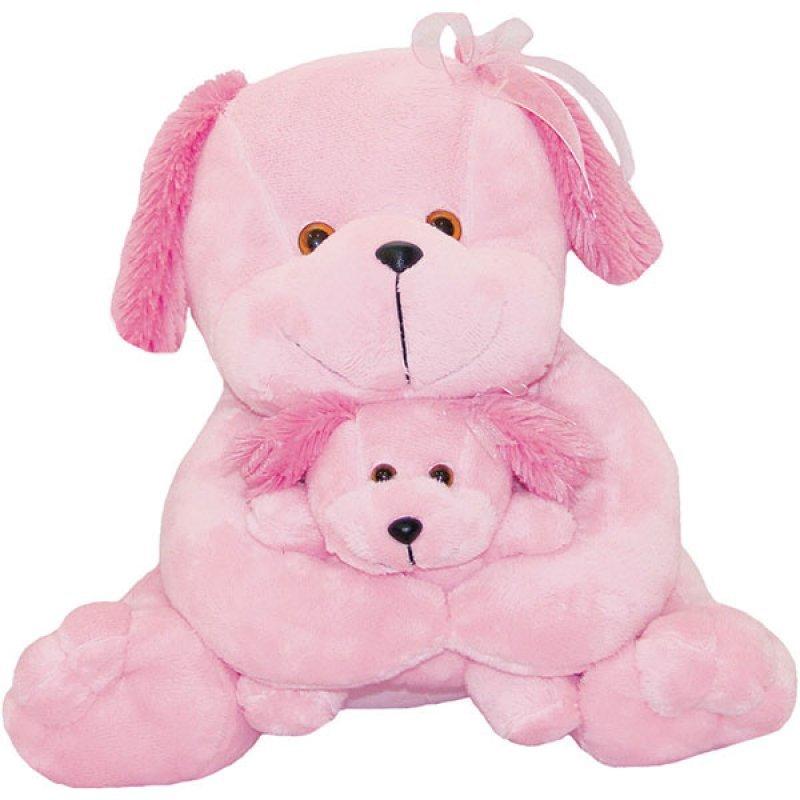 2876b264bf613e Cachorra Com Filhote 30cm Soft Toys