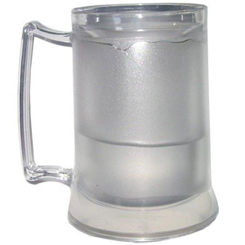 Caneca de Chopp Acrílica com Gel Térmica Congelante 400ml ... 9d354507c24b4