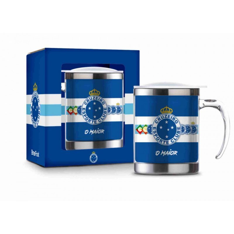 8362abedd5 Caneca Plástica Inox Cruzeiro Esporte Clube Azul Presente ...