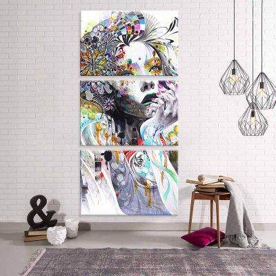 3af48e828 Conjunto de 3 Telas Decorativas em Canvas Face Grande - MadeiraMadeira