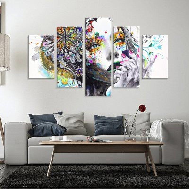 c68fc3e40 Conjunto de 5 Telas Decorativas em Canvas Abstrato Face Médio. Compartilhe   Identificador  1009916. 26%