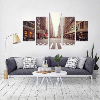 c53da288f Conjunto de 5 Telas Decorativas em Canvas NYC Street Grande ...