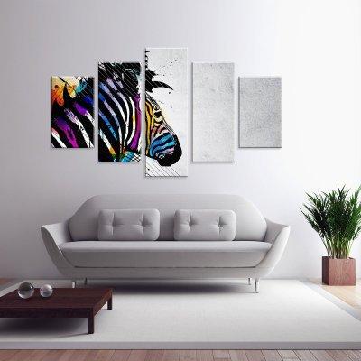 7455dc2fb Conjunto de 3 Telas Decorativas em Canvas Flowers Face Grande ...