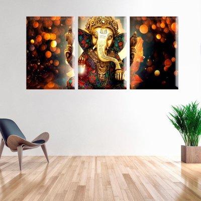 f142d938a Conjunto de Telas Decorativas Lord Ganesha Grande - MadeiraMadeira