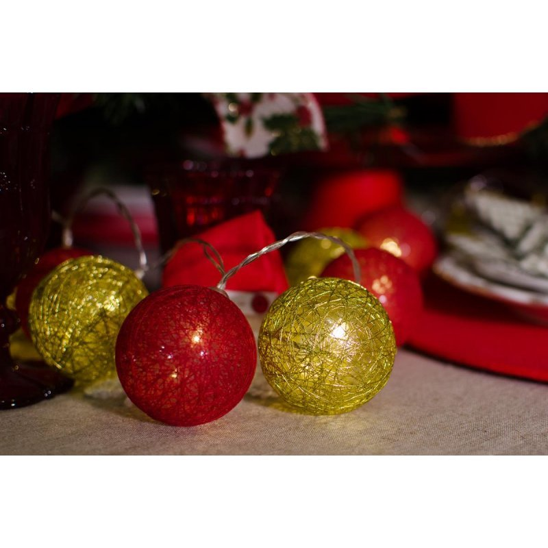d55bf2f4df34c Cordão de luz Natal Redgold - ornamentação árvores decoração festa e ...