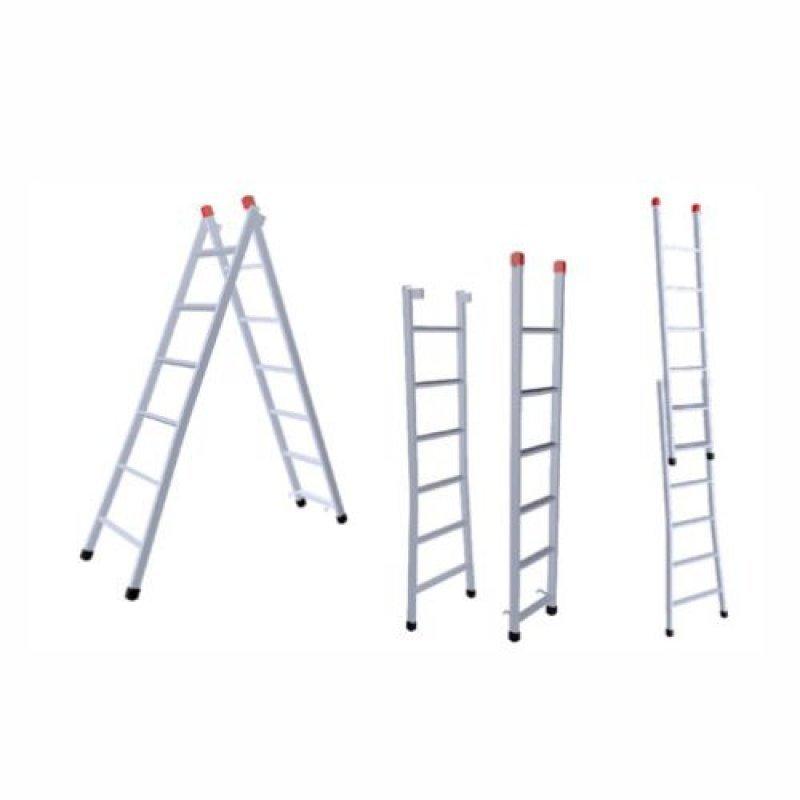 Menor preço em Escada Extensiva 5x8 Degraus 1,50x2,60m Ferro 120Kg 3 em 1 -205 NV No