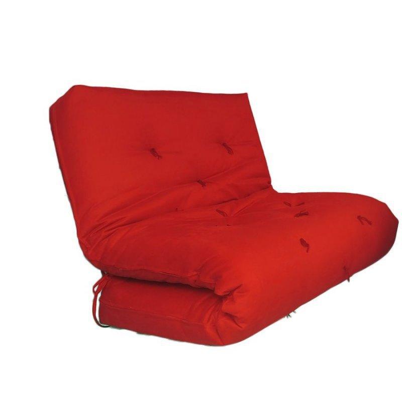 Sofa Cama Solteiro Futon Dobrável Cinza Madeiramadeira