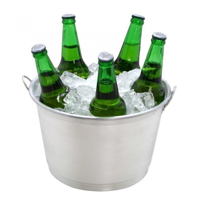 324c4e100a4aa Kit Com 100 Balde Para Gelo E Cerveja 6 Litros Alumínio prata ...