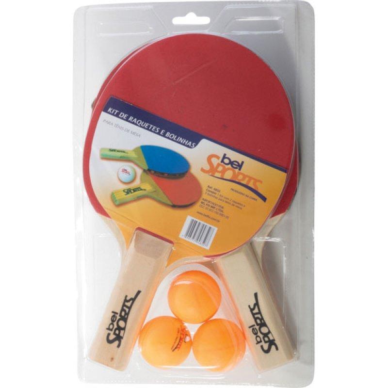Kit Tenis de Mesa 2 Raquetes 3 Bolas e Rede Bel Sports - MadeiraMadeira 5cfb414d11e93