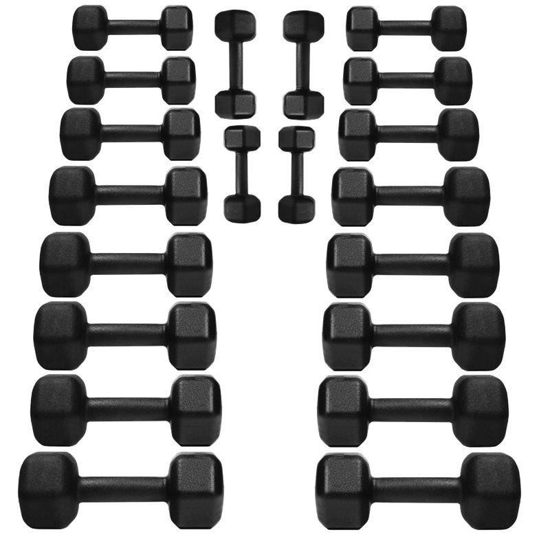 ffc03a4b7 Kit Halteres Dumbells Sextavado Ferro 1 Ao 10kg Pares - MadeiraMadeira