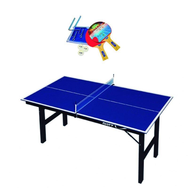 Kit Tênis De Mesa Dobrável Mdp com Rede e Raquetes Ping Pong 1003 - Klopf 09e12da014086