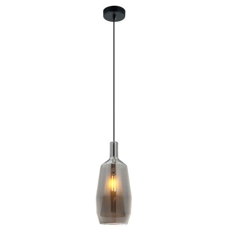 9520f6237 Luminária de Mesa Vidro Fumê 14cm x 40cm +Luz - MadeiraMadeira