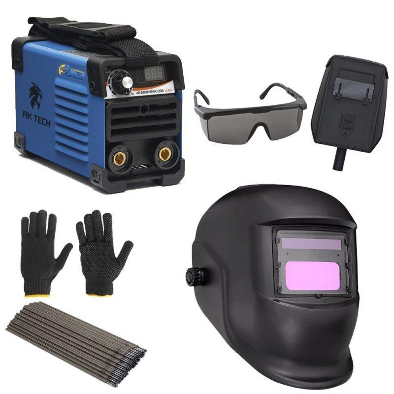 db615c80b6e7e Maquina Inversora De Solda Mini 130 + Mascara Automática e Acessórios - 220  v