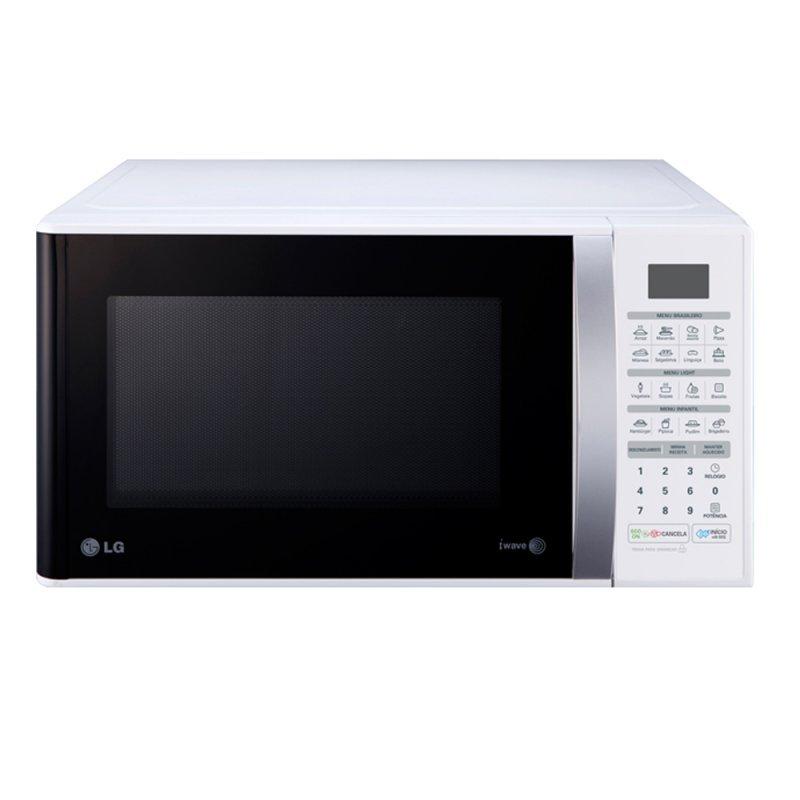 aac2bda21 Micro-ondas LG Easy Clean Branco 30L - MS3052R -110v