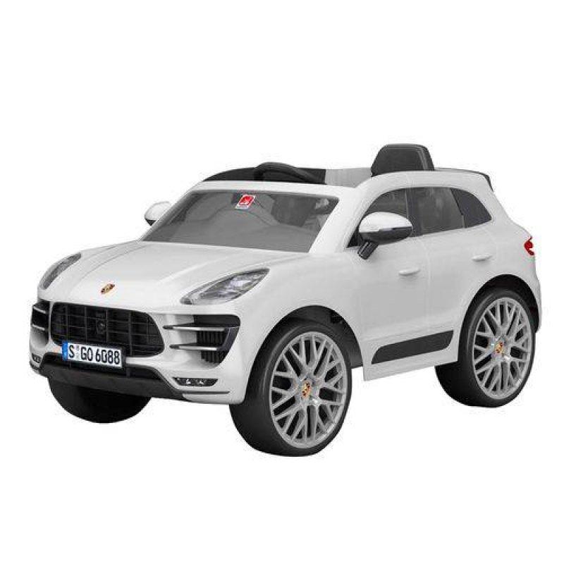 49a8396694 Mini Carro Elétrico Porsche Macan Branca El 12V Bandeirante ...