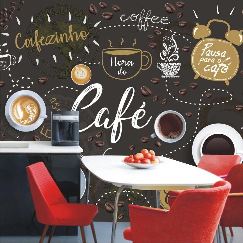 Papel de parede cozinha lav vel vin lico caf cafeteria - Papel vinilico para paredes ...
