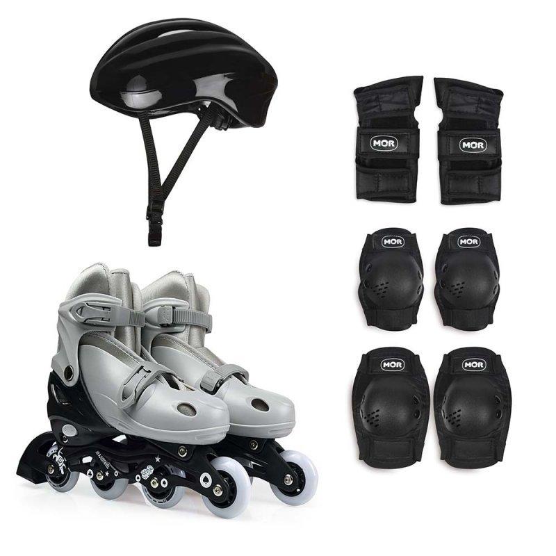 0f0ecd929 Patins Roller Infantil Número 34 ao 37 com Kit Proteção - MadeiraMadeira