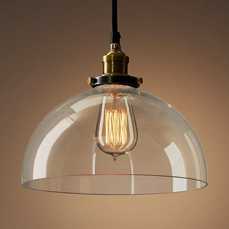 7c5e977f5 Pendente Retrô Industrial Vidro Loft Luminária Vintage Lustre Design Edison  LM1790