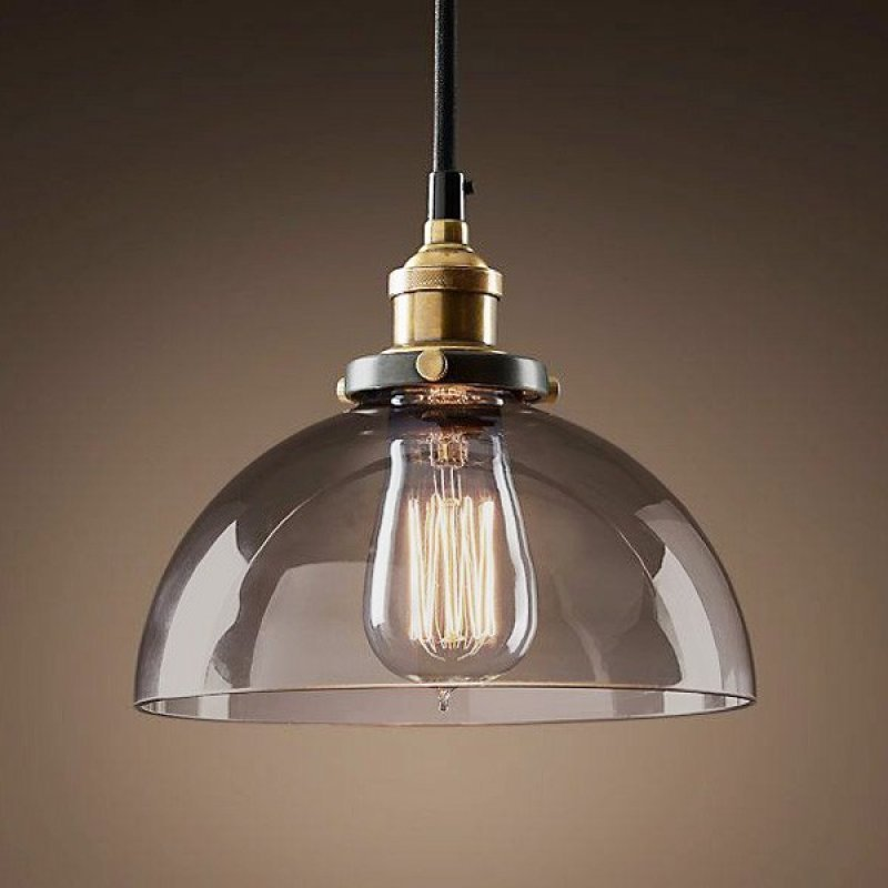 42340457b Pendente Retrô Industrial Vidro Loft Luminária Vintage Lustre Design ...