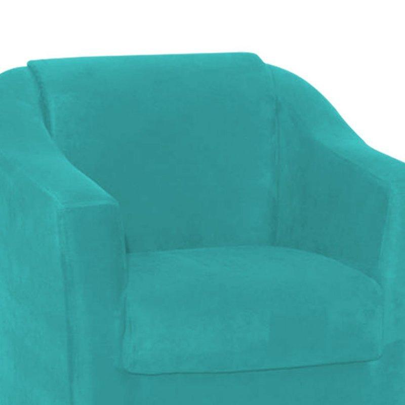 Poltrona Decorativa Tilla para Sala e Recepção Suede Azul Tiffany - D Rossi e7633182b9