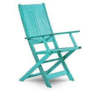 Cadeira Dobrável Acqualung com Braços Mão e Formão Azul