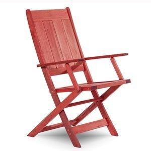 Cadeira Dobrável Acqualung com Braços Mão e Formão Vermelho