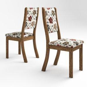 Conjunto 2 Cadeiras Kiara Viero Avelã/Passion