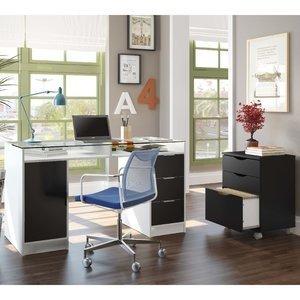 Ambiente Office P256 Tutti Colors Madesa Branco / Preto