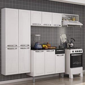 Cozinha Completa com Balcão Rose Itatiaia Branco/Preto