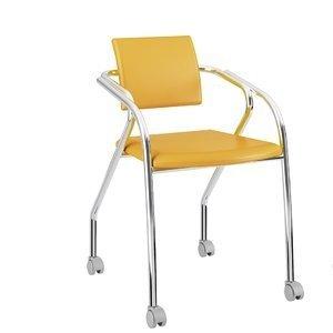 Conjunto 2 Cadeiras Jersey Carraro Amarelo Ouro