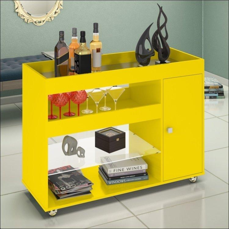 Armario Embutido Cozinha ~ Aparador Bar 2 Portas Luxo 4021 JB Bechara Amarelo em