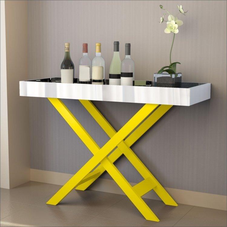 Armario Embutido Cozinha ~ Aparador Bar com Espelho Luxo 4022 JB Bechara Amarelo em