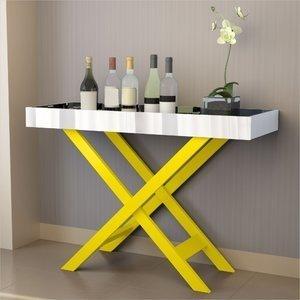 Aparador Bar com Espelho Luxo 4022 JB Bechara Amarelo