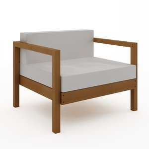 Sofá Componível Lazy - 1 Lugar (almofadas não acompanham o produto) Jatoba