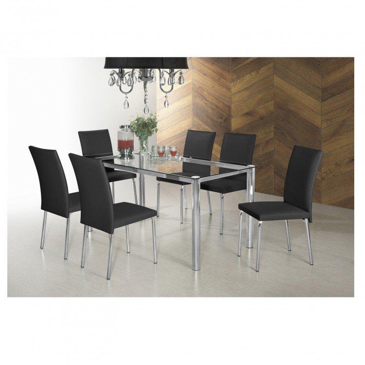 Conjunto sala de jantar mesa diana 6 cadeiras viana siena for Sala 2 conjunto de artes escenicas