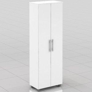 Armário Multiuso 2 Portas 5 Prateleiras ACP Móveis Branco
