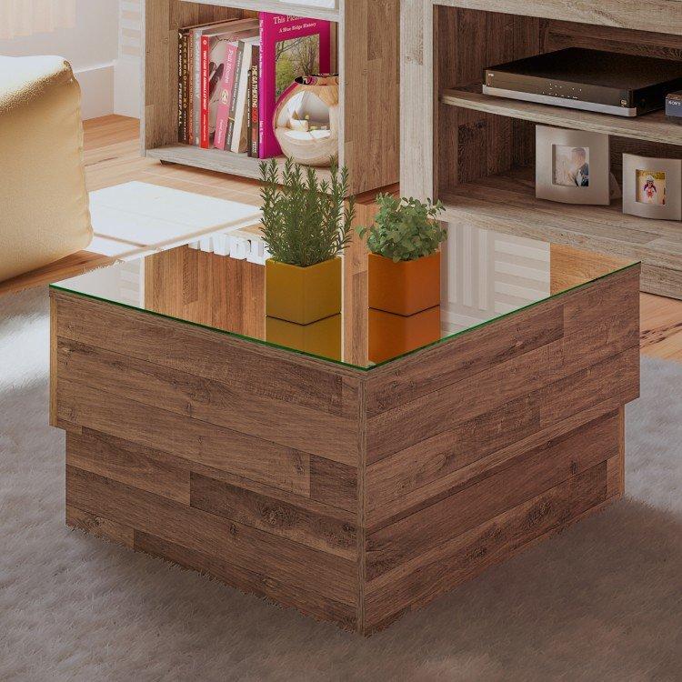 Mesa de centro com tampo espelhado parati artely r stico - Merkamueble mesas de centro ...