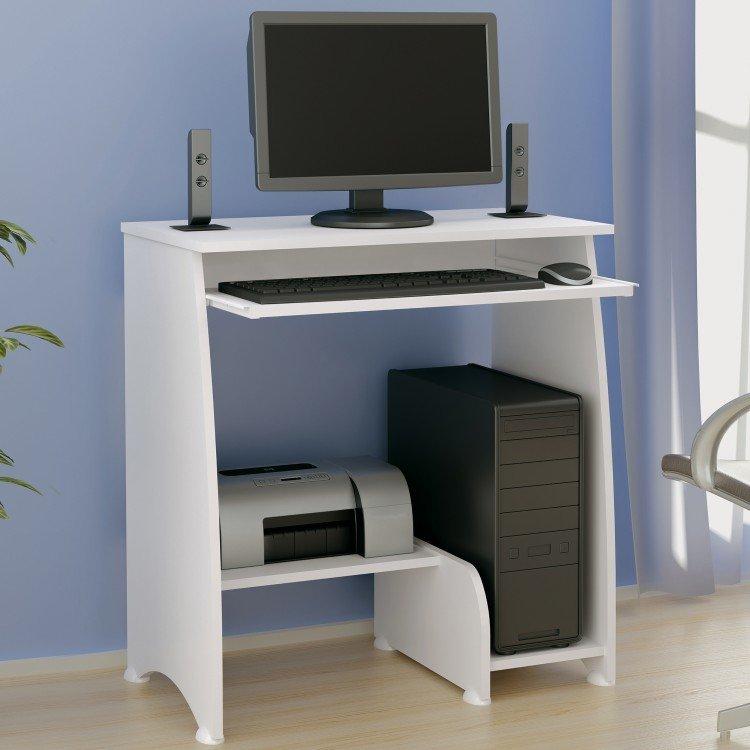 Mesa para computador com 3 prateleiras pixel artely branco - Mesa de escritorio plegable ...