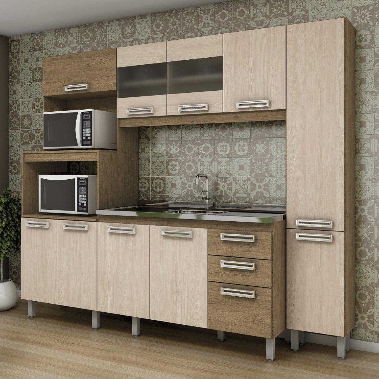 Armario De Cozinha Completo Marabraz Cozinha Compacta Essencial