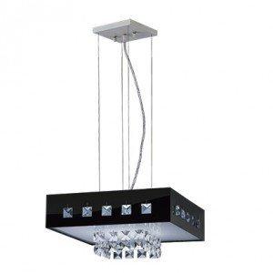 Pendente LED Quadrado 20W Vienna Preto Bronzearte 127V 6400K Luz Branca