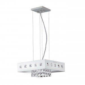 Pendente LED Quadrado 20W Vienna Branco Bronzearte 127V 6400K Luz Branca