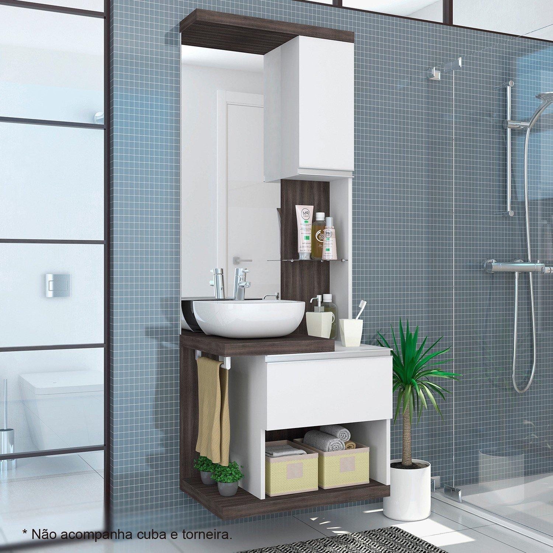 Gabinete para Banheiro  Preços a Partir de R$ 147,16  Buscap -> Cuba Para Banheiro Zoom
