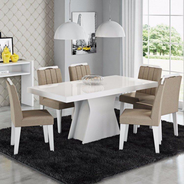 Conjunto sala de jantar mesa ol via 6 cadeiras elisa cimol for Sala 2 conjunto de artes escenicas