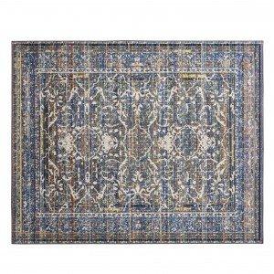 Tapete Retangular Karev Corttex 2,00m x 1,50m Azul/Bege