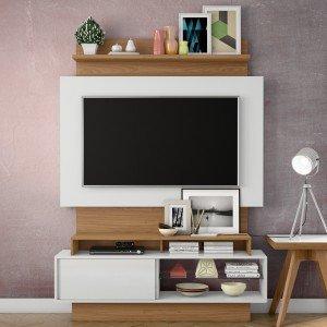 estante para tv e home theater madeiramadeira. Black Bedroom Furniture Sets. Home Design Ideas