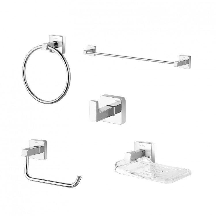 Kit Acessórios Para Banheiro Docol Idea : Kit acess?rios para banheiro pe?as trip docol cromado em